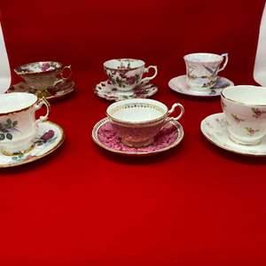 Lot # 37 - Six Teacups & Saucers - (See Photos)