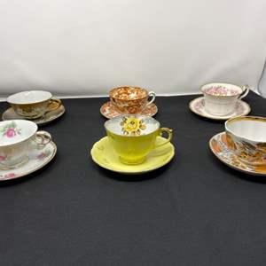 Lot # 40 - Six Teacups & Saucers - (See Photos)