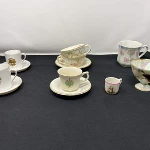 Lot # 42 - Teacups & Saucers - (See Photos)