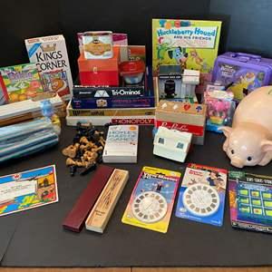 Lot # 120 - Vintage Games, View Finder w/ Slides, Books, Toys, & More