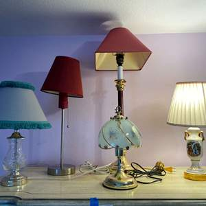 Lot # 167 - Five Lamps of Various Sizes - (All Work)