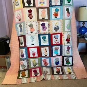Lot # 180 - Cute Sue Bonnet Sue Handmade Quilt