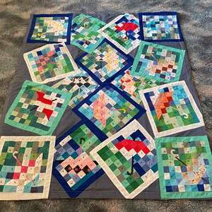 Lot # 186 - Awesome Small Handmade Quilt