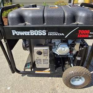 Lot # 2 PowerBoss Honda 7000 Watt Generator