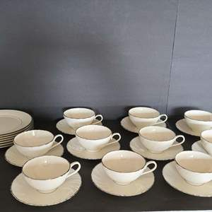 Lot # 11 Lenox Cups, Saucers, & Plates