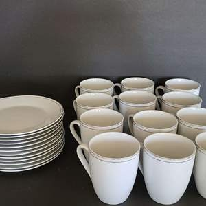 Lot # 13 Coffee Cups & Matching Plates
