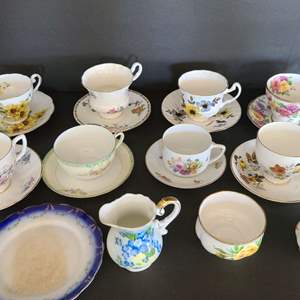 Lot # 14 Tea cups, Saucers, & More