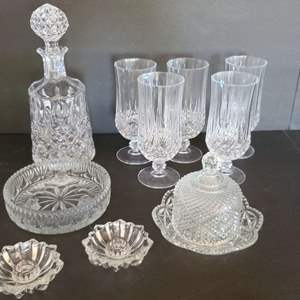 Lot # 17 Crystal Decanter & More