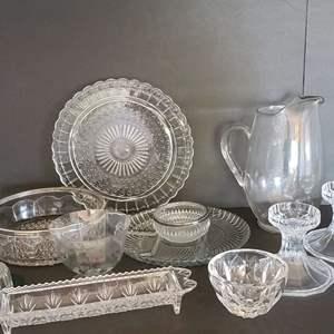 Lot # 20 Assorted Glassware