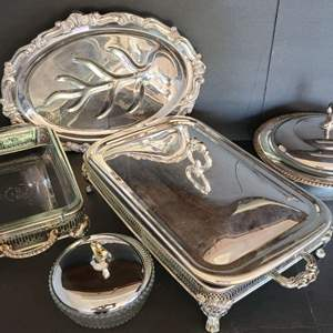 Lot # 22 Silver-plated Servingware
