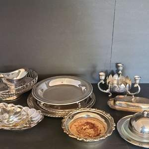 Lot # 23 Silver-plated Servingware