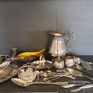 Lot # 24 Silver-plated Servingware