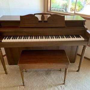 "Lot # 42 Wurlitzer Piano 57""x24""x36"" with Bench"