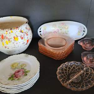 Lot # 57 Pressed Glass & More