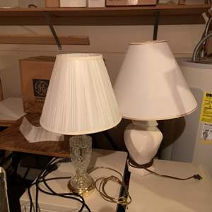 Lot # 73 Pair of Small Table Lamps