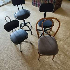 Lot # 90 Chairs & Stools