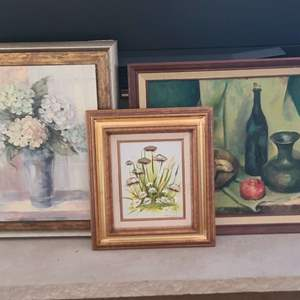 Lot # 96 Assorted Oil On Canvas