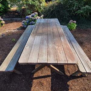 Lot # 107 Wood Picnic Table