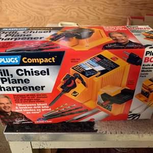 Lot # 120 Drill Chisel & Plane Sharpener