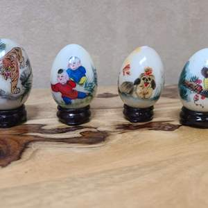Lot # 15 Hand Painted Marble Eggs