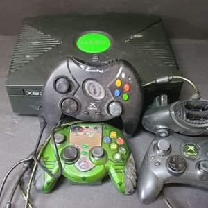 Lot # 42 Original Xbox & Controllers No Power Cords