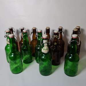 Lot # 68 Grolsch Beer Bottles