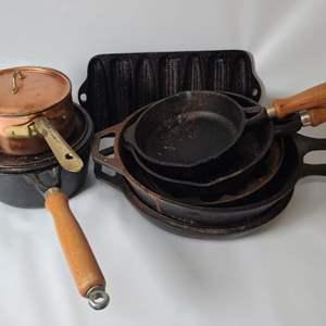 Lot # 83 Cast Iron Pans