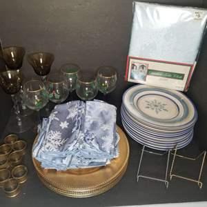 Lot # 92 Christmas Tableware