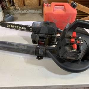 Lot # 107 Craftsman Gas Leaf Blower & Chainsaw