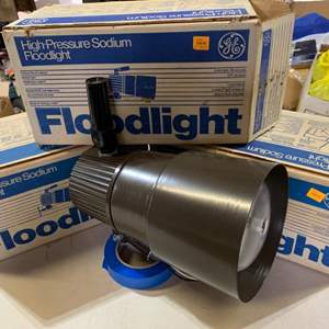 Lot # 110 Westinghouse Motion Sensor Flood Lights (3) NIB