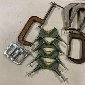 Lot # 128 Miscellaneous Clamps (C Clamps, Corner Clamps, U Clamps)
