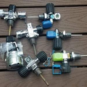 Lot # 206 Cylinder Valves For Scuba