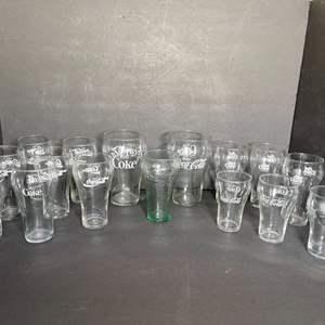 Lot # 214 Vintage Coca Cola Glasses