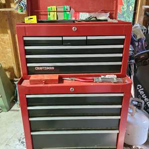 Lot # 242 Craftsman Double Tool Chest & Tools