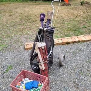 Lot # 258 Golf Clubs, Balls & Bags #2