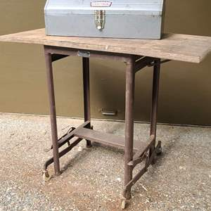 Lot # 284 Vintage Typewriter Stand & Craftsman Toolbox