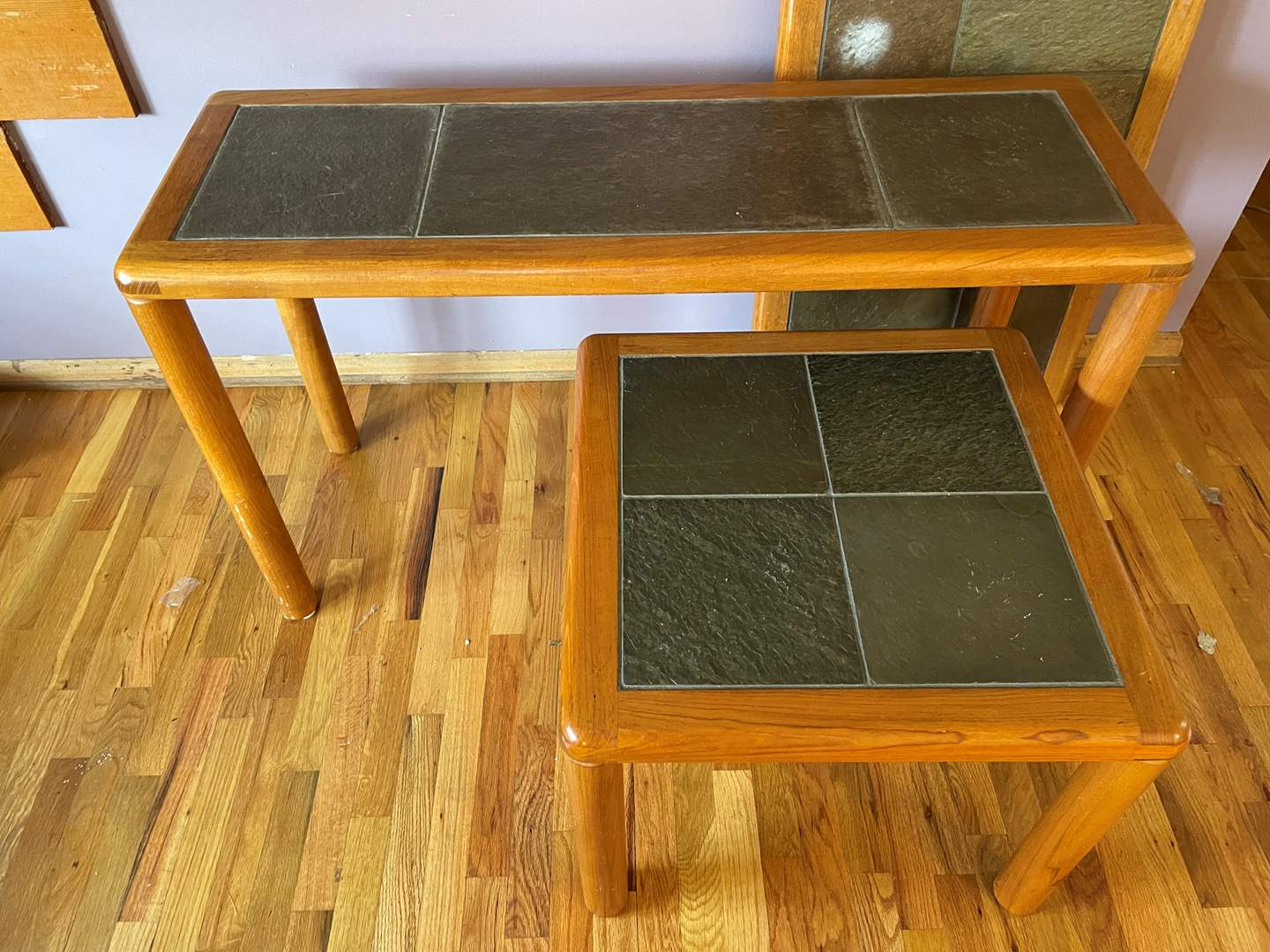 Lot # 6 - Pair of (2) Halsey Tile-Topped Front Room Tables (main image)