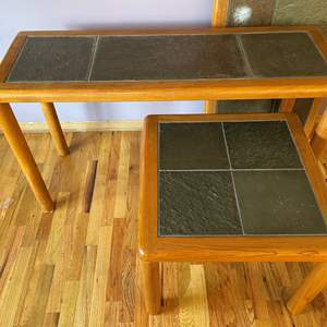 Lot # 6 - Pair of (2) Halsey Tile-Topped Front Room Tables