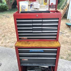 Lot # 70 - Craftsman Sears Rolling Tool Chest (Full of Tools)