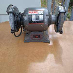 Lot # 74 - Mark1 B-309 Ball Bearing Electric Bench Grinder