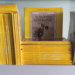 Lot # 130 - Large Lot of National Geographic Magazine (roughly 500)