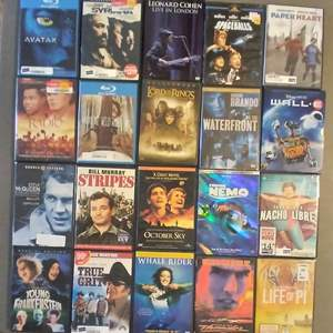 Lot # Lot of Assorted DVD and VHS tapes