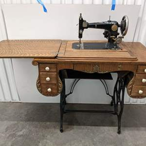 Lot #18 - Vintage Griest Sewing Machine (Converted)