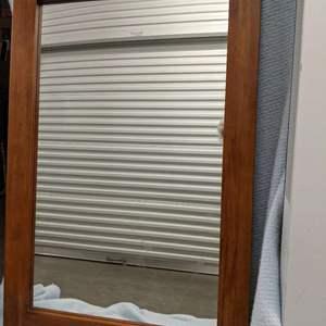 Lot # 25 - Cherry Wood Framed Wall Mirror