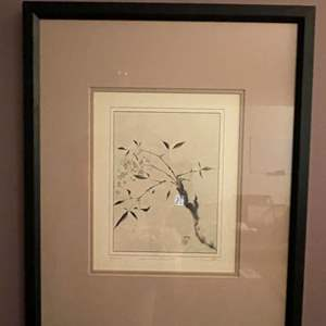"""Lot # 48 - """"Heavenly Bamboo"""" Framed Art (Signed and Numbered)"""