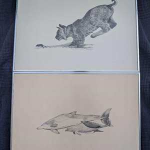 Lot # 51 - Two (2) 1978 Signed and Numbered Prints of Pen Drawings by Jami Good
