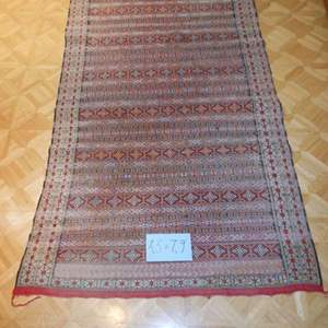 Lot # 60 Hand-dyed Hand-made Rug in Morocco 1990s