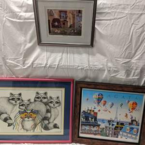 Lot # 64 - Three (3) Fun and Bright Prints - Some Signed and Numbered