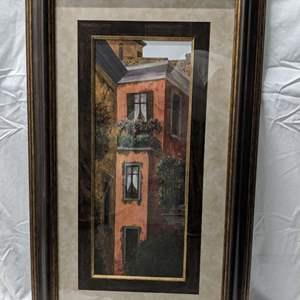 "Lot # 67 - Framed and Matted Print ""Verona Balcony - Casa Roja"" by Montserrat Masdeu"