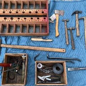 Lot # 89 - Lot of Vintage Tools and Boxes